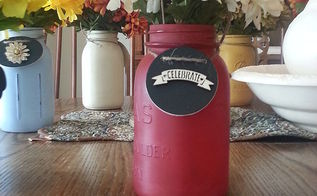 using painted mason jars for flowers, crafts, mason jars, repurposing upcycling