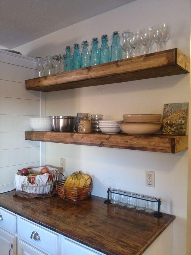 One hometalker s brilliant shelving solution for just 20  how to  kitchen  design 20 DIY Floating Shelves   Hometalk. Just Kitchen Designs. Home Design Ideas