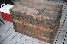 storage trunk makeover, crafts, diy, rustic furniture, storage ideas