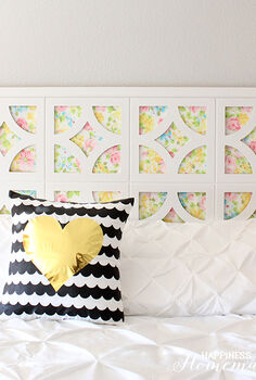 diy vintage sheet headboard, bedroom ideas, crafts, diy, home decor, reupholster