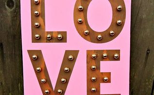 diy faux marquee love sign, crafts, seasonal holiday decor, valentines day ideas