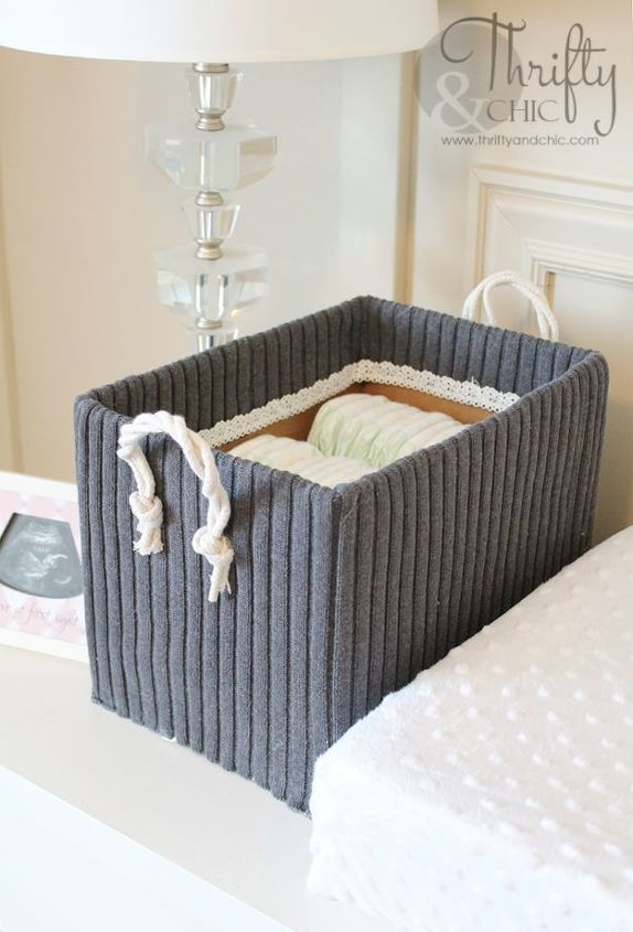 Cute Storage Boxes From Old Sweaters And Boxes Diy Home Decor Organizing