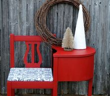 gossip bench telephone table makeover, painted furniture, rustic furniture