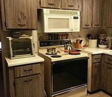 q what would you do with these fake barn wood cabinets, kitchen cabinets, kitchen design