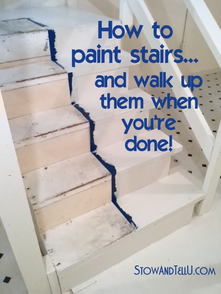 How To Paint Stairs And Get On With Your Day While The