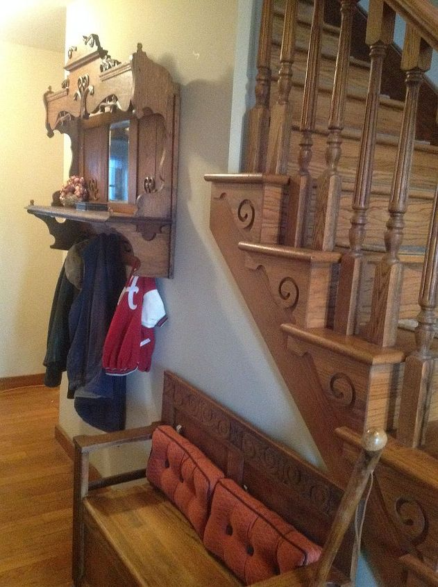 Repurposing An Antique Pump Organ Hutch Into A Coat Rack
