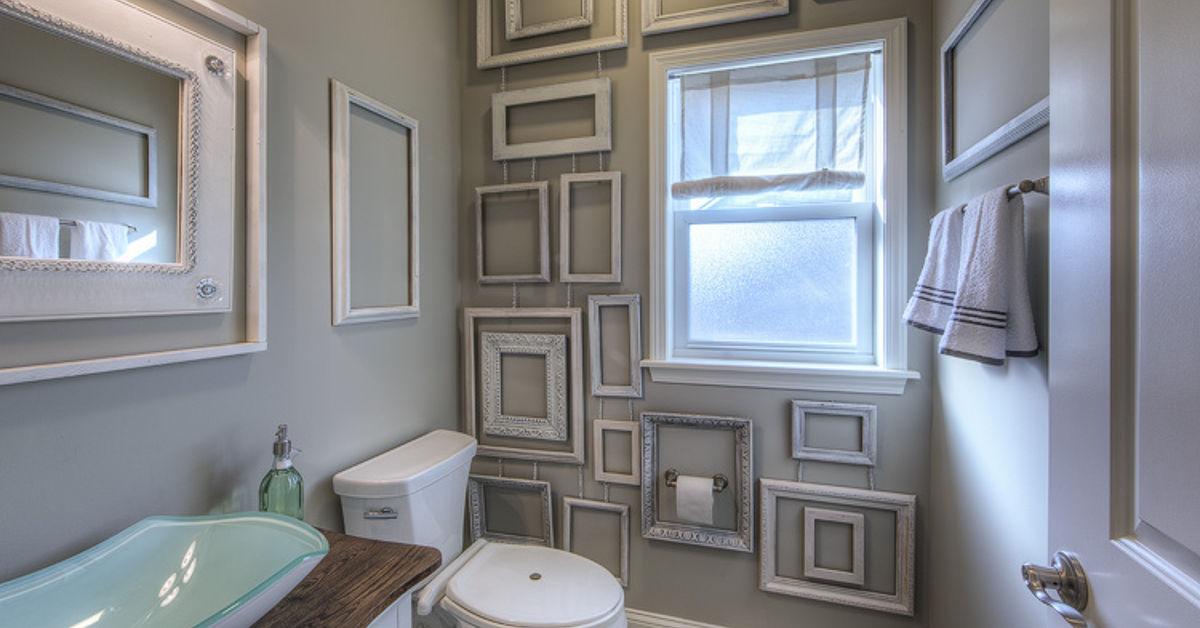 Bathroom Decor Frames : Wall decor made from frames hometalk