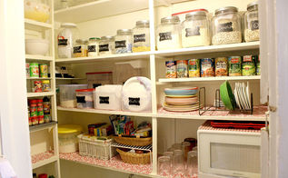 organized pantry from cluttered mess, closet, kitchen cabinets, organizing