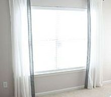 diy fabric trimmed curtains, home decor, reupholster, window treatments
