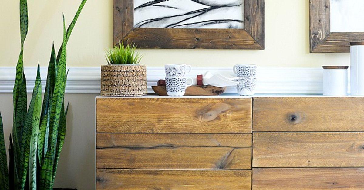 Diy reclaimed wood buffet ikea hack hometalk - Diy sideboard ikea hack ...