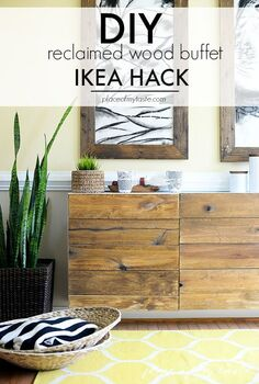 diy reclaimed wood buffet ikea hack, doors, home decor, wall decor, woodworking projects
