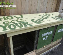 diy backyard compost station, composting, gardening, go green, repurposing upcycling