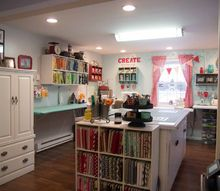 craft room redone, craft rooms, organizing, storage ideas