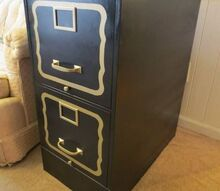 10 step file cabinet makeover dorothy draper style, diy, home office
