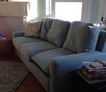 q how to keep couch cushions from pushing forward, how to, living room ideas, reupholster, I ve even tried the tucking the cushion backwards
