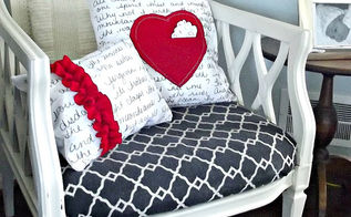 valentine s day love note pillows, crafts, how to, seasonal holiday decor, valentines day ideas