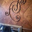 pottery barn wall art turned ceiling medallion, dining room ideas, repurposing upcycling, wall decor