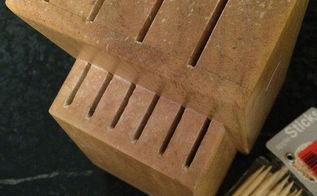 1 knife block becomes brilliant storage, crafts, organizing, repurposing upcycling