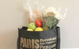 diy stenciled shopping bags, crafts, repurposing upcycling