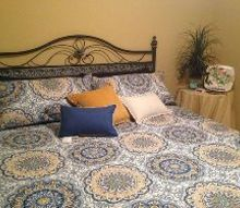 ideas for matching colors for drapes to dark blue and yellow, bedroom ideas, home decor, window treatments