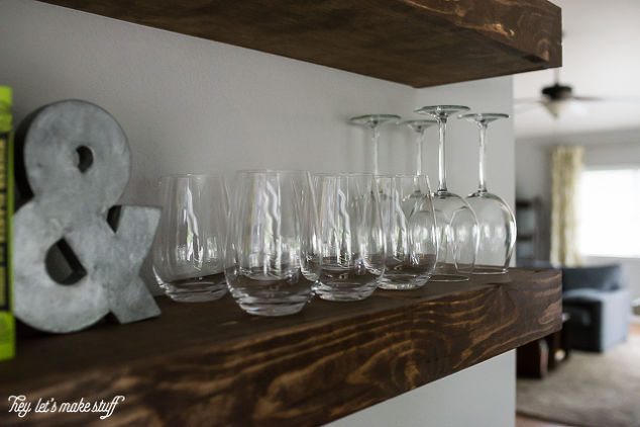 Dining Room Storage With Floating Shelves | Hometalk