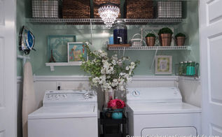 before after my laundry room makeover, laundry rooms