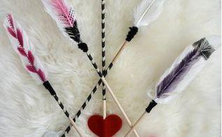 diy valentines arrow through heart, crafts, how to, seasonal holiday decor, valentines day ideas