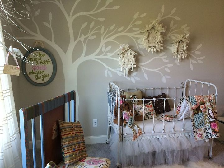 Cuckoo For Nursery Wall Art Bedroom Ideas Crafts Painting Repurposing Upcycling