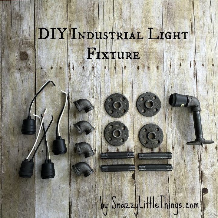 Rustic Industrial Light Steel And Barn Wood Vanity Light: DIY Industrial Vanity Light = $67