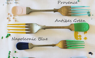 vintage fork name tags, chalk paint, crafts, dining room ideas, how to, repurposing upcycling