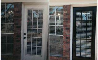 painting exterior doors black, doors, how to, painting