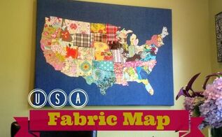 usa fabric remnant map, crafts, how to, repurposing upcycling, reupholster