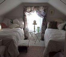 q white bedroom in the attic, bedroom ideas, window treatments