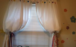 adding charm to ikea drapes for bedrooms master and nursery, bedroom ideas, crafts, window treatments, Nursery