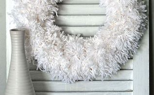 easy winter pom pom wreath, crafts, how to, repurposing upcycling, wreaths