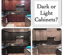 q dark vs light kitchen cabinets, kitchen cabinets, kitchen design, paint colors