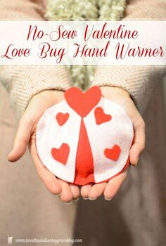 diy valentine hand warmer, crafts, how to, repurposing upcycling, seasonal holiday decor, valentines day ideas