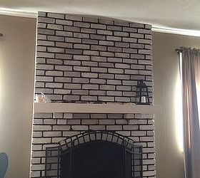 Help design my white washed brick fireplace mantle | Hometalk