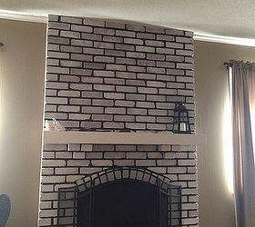 Help design my white washed brick fireplace mantle | Hometalk
