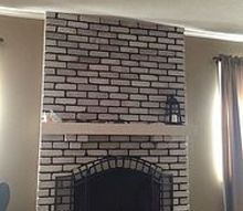 q ideas for white washed brick fireplace mantle decor, fireplaces mantels, home decor