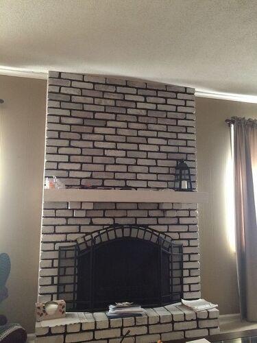 Help Design My White Washed Brick Fireplace Mantle Hometalk