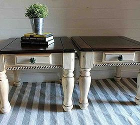 Two Tone Painted Side Tables, Painted Furniture