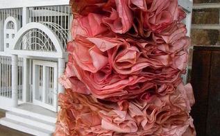 rose valentine s day coffee filter tree, crafts, repurposing upcycling, seasonal holiday decor, valentines day ideas, wreaths