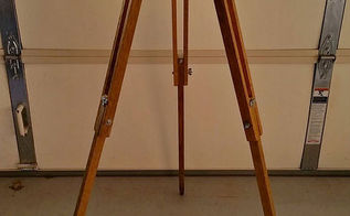 antique surveyor s tripod floor lamp, home decor, how to, lighting, repurposing upcycling