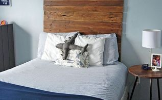 reclaimed wood headboard, bedroom ideas, fences, painted furniture, repurposing upcycling, woodworking projects