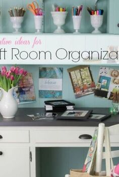 creative organizing ideas for craft supplies, craft rooms, crafts, organizing, storage ideas