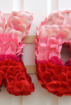 valentine s day xo rose petal wreath, crafts, seasonal holiday decor, valentines day ideas, wreaths