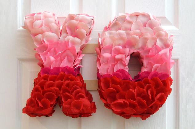 valentine 39 s day xo rose petal wreath hometalk