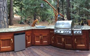 rustic outdoor kitchen, outdoor furniture, outdoor living, Sticks n stones never felt so good