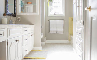 drastic before after bathroom remodel all diy, bathroom ideas, home improvement